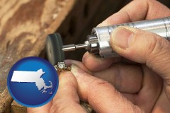 massachusetts map icon and repairing and polishing a ring