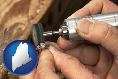 maine map icon and repairing and polishing a ring