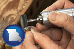 missouri map icon and repairing and polishing a ring