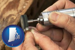 rhode-island map icon and repairing and polishing a ring