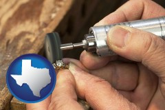 texas map icon and repairing and polishing a ring