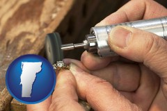 vermont map icon and repairing and polishing a ring